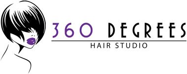 360 Degrees Hair Studio Logo